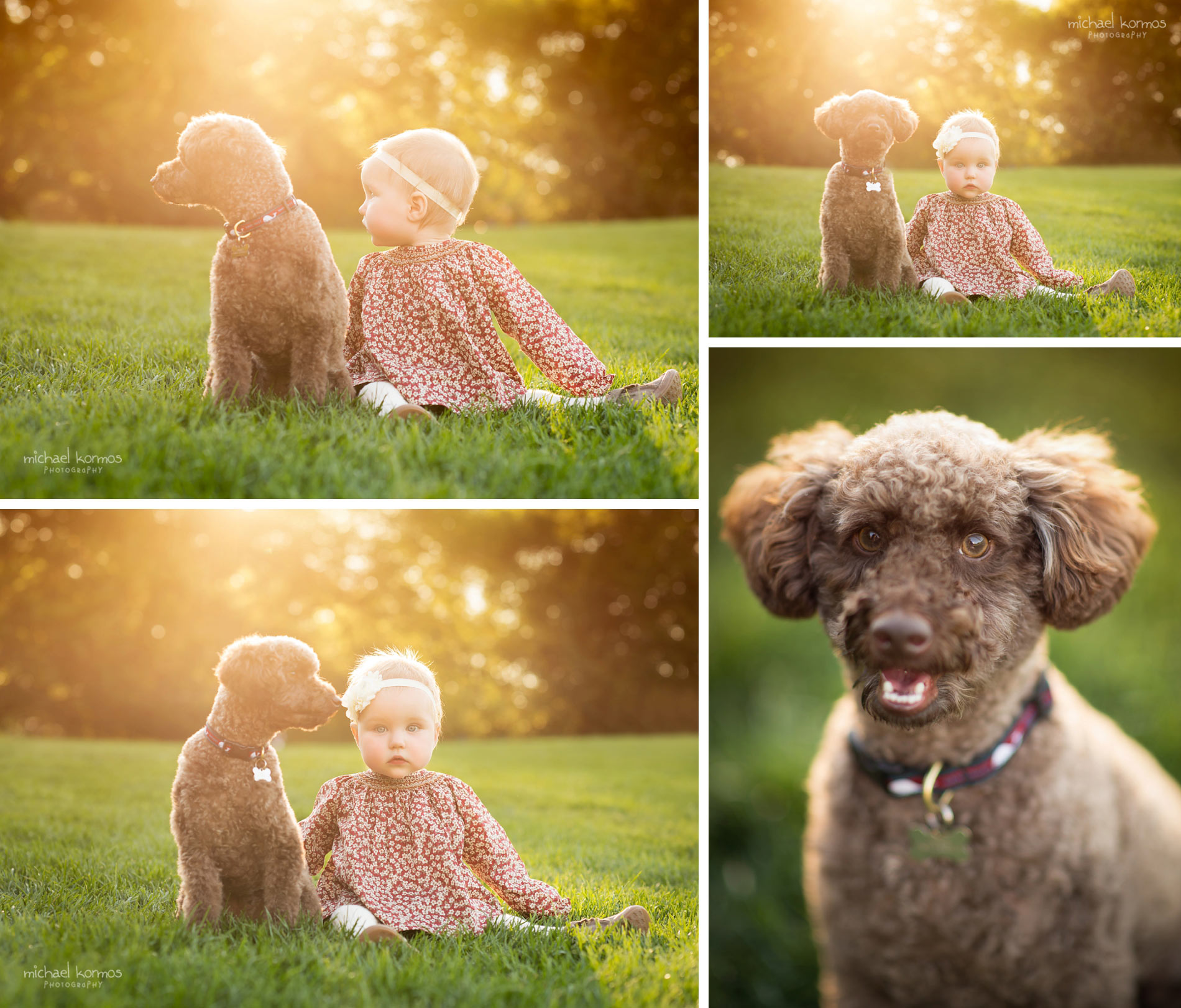 Natural NYC Central Park Baby and dog Photography