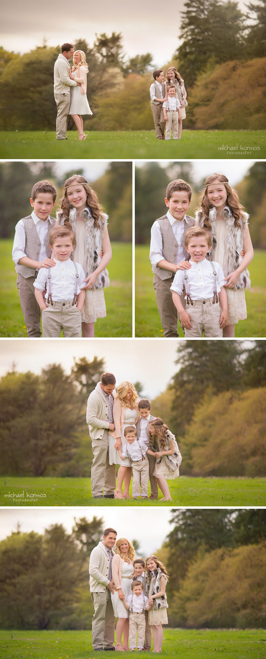 Westchester family portraits captured outdoors in Springtime
