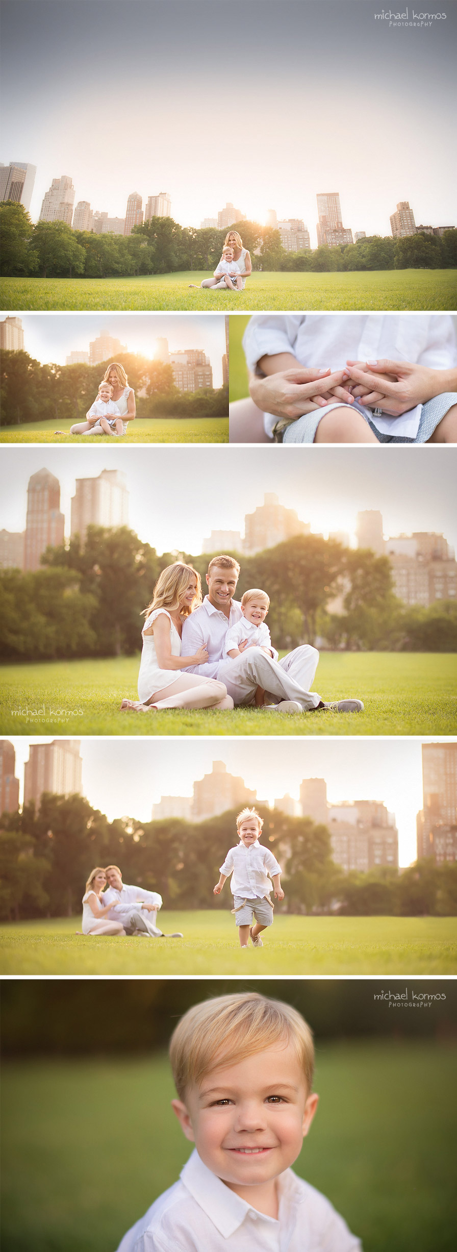 family portraits amidst the cityscape of nyc
