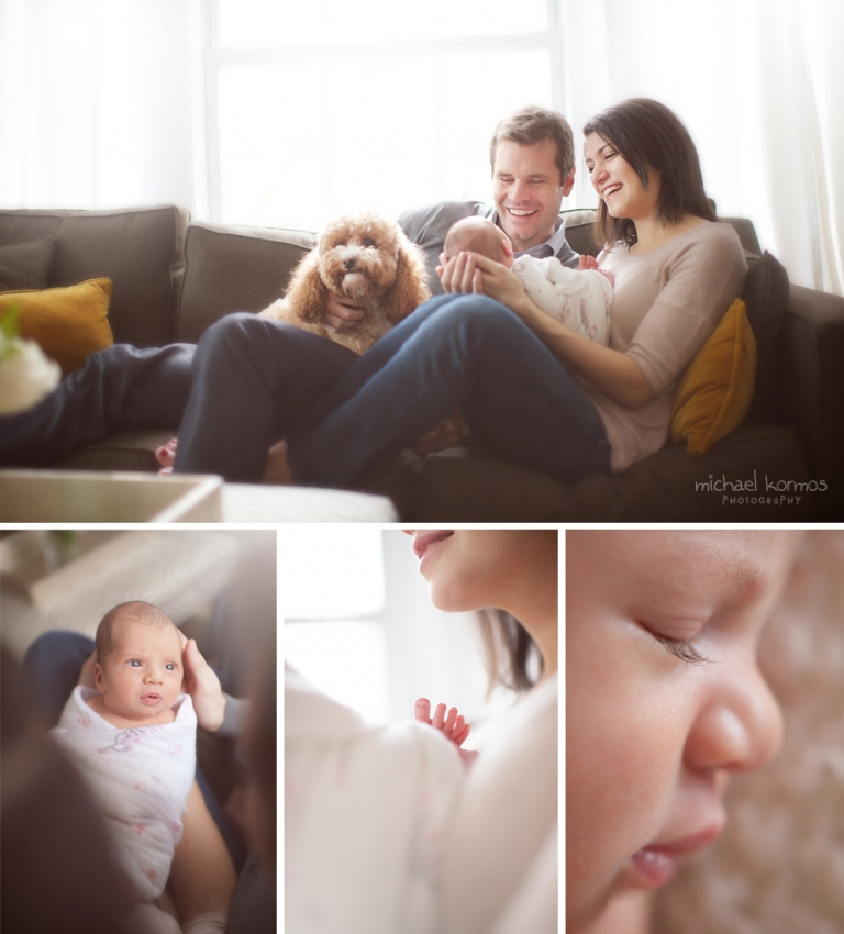 Newborn photography with family by Michael & Sophie Kormos
