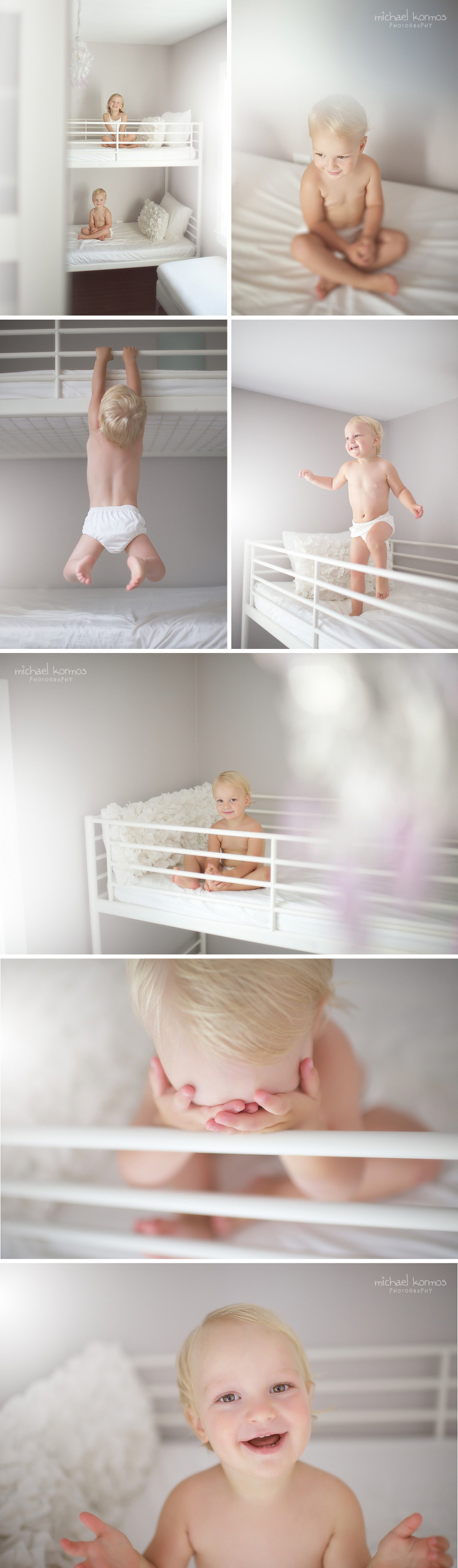 Photo depicting lifestyle photography of two siblings playing in their bedroom