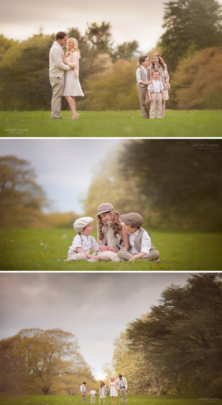 Lifestyle family photo shoot captured in Westchester fields