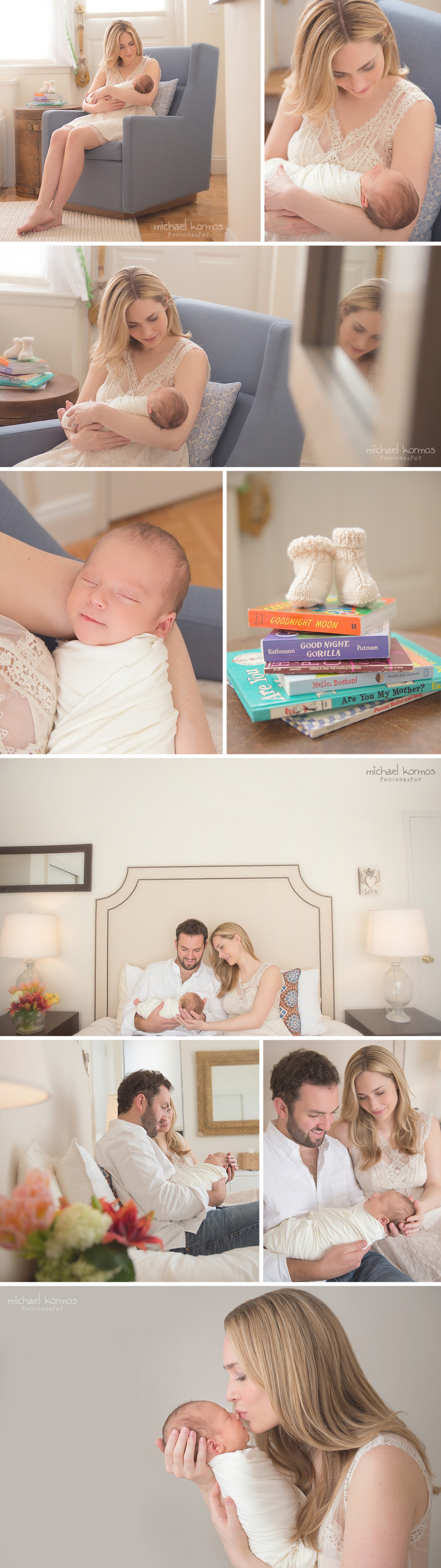 lifestyle newborn photography captured in Manhattan home settings
