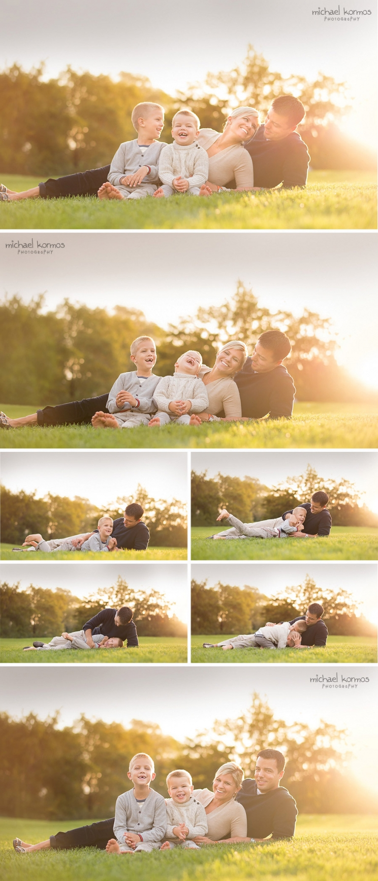 family holiday portrait photography outdoors in Manhattan