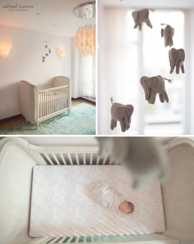 Manhattan newborn baby nursery decor