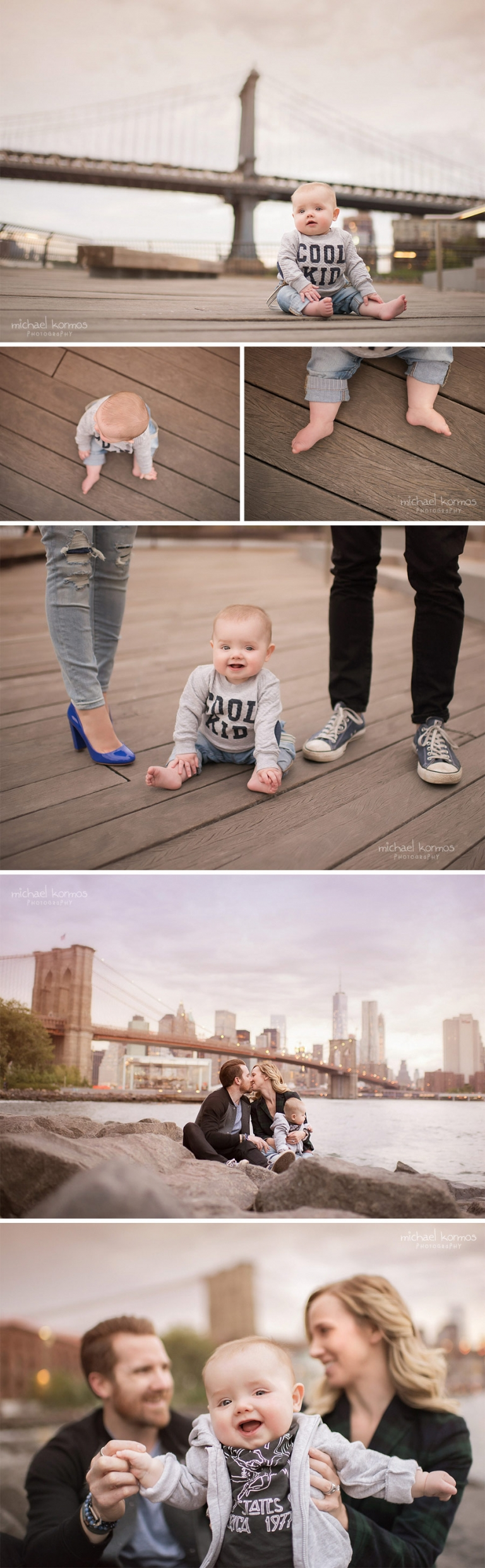 baby photography brooklyn bridge park waterfront