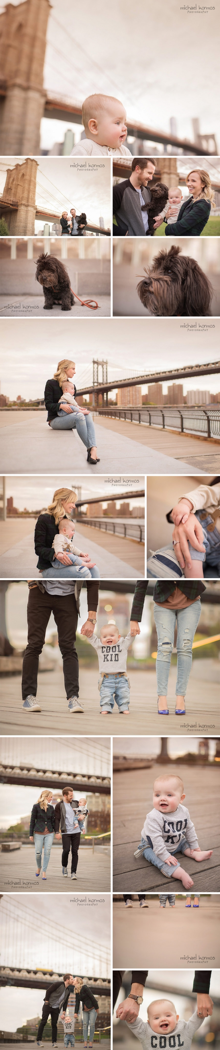 lifestyle family photographer brooklyn bridge park