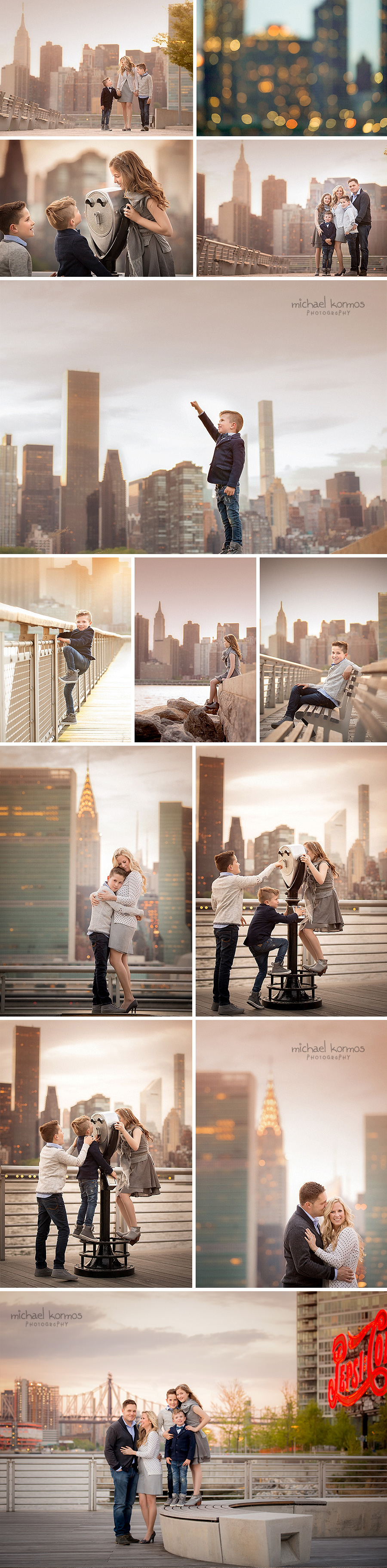 gantry plaza park family photo shoot