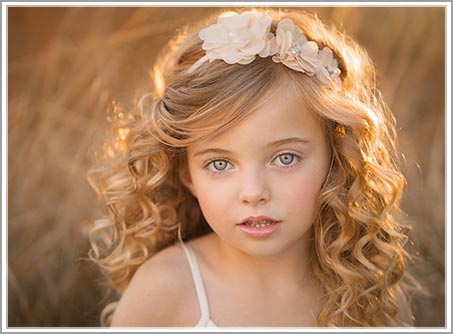 Photo of a young girl with backlight