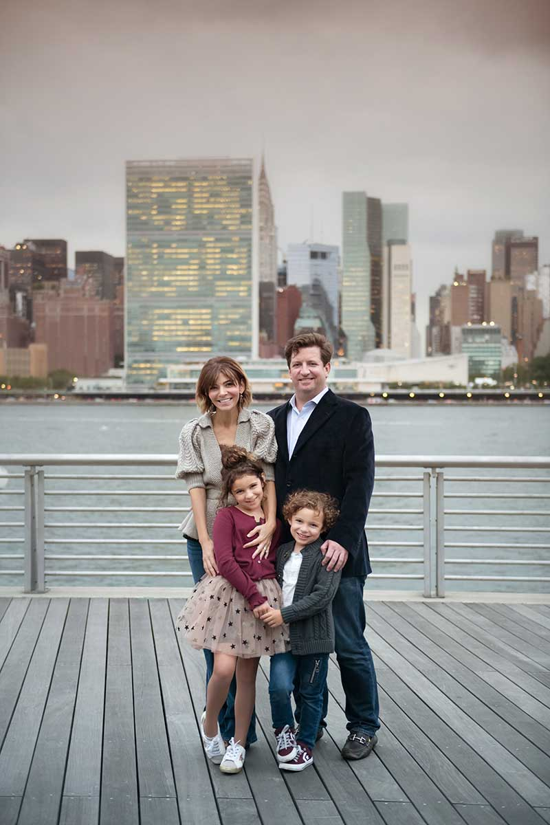 Lifestyle portrait of a modern NYC family taken in Long Island City