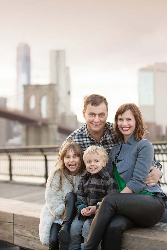 NYC Downtown makes for a beautiful family portrait setting