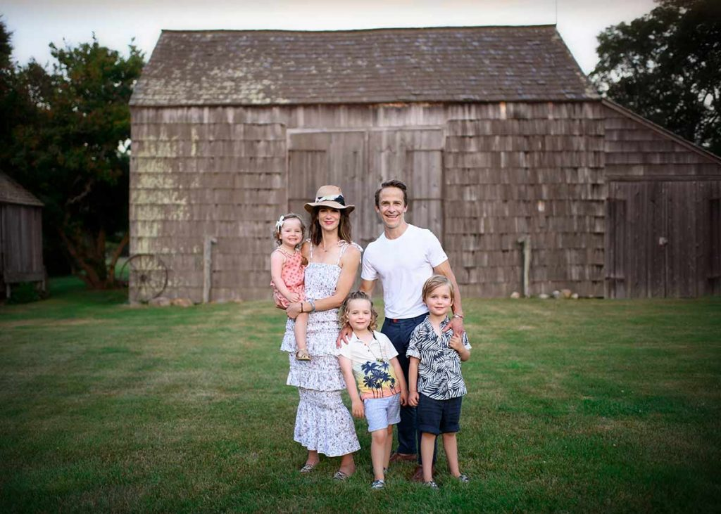 Rustic Easthampton farm is the setting for this beautiful family photo