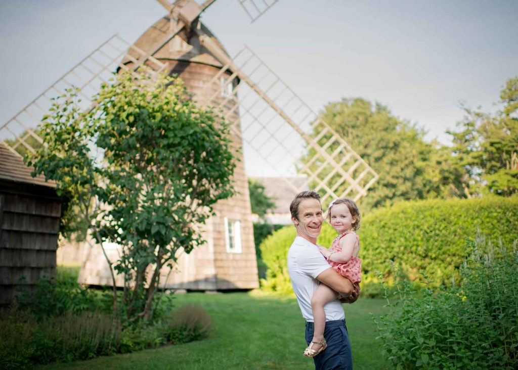 Windmill in Amagansett NY is the setting for this timeless family photo
